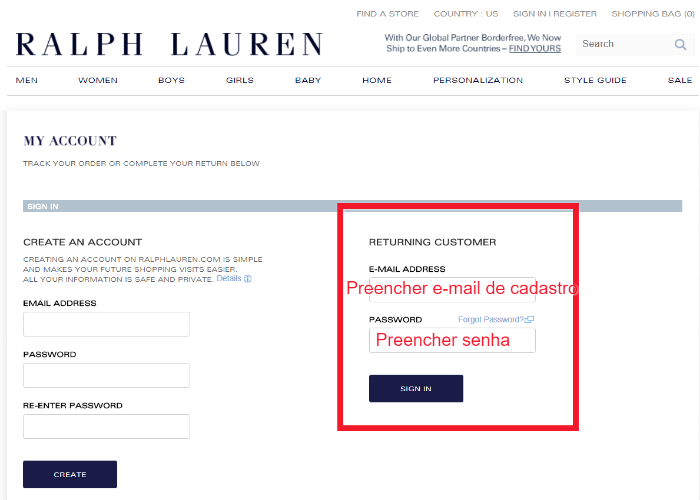 Número – Lauren Polo Como O De Ralph Qual A Rastreio Localizar É Da oQdxWrCBe